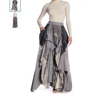 TOV Damsel's Black Denim Maxi Skirt NWT